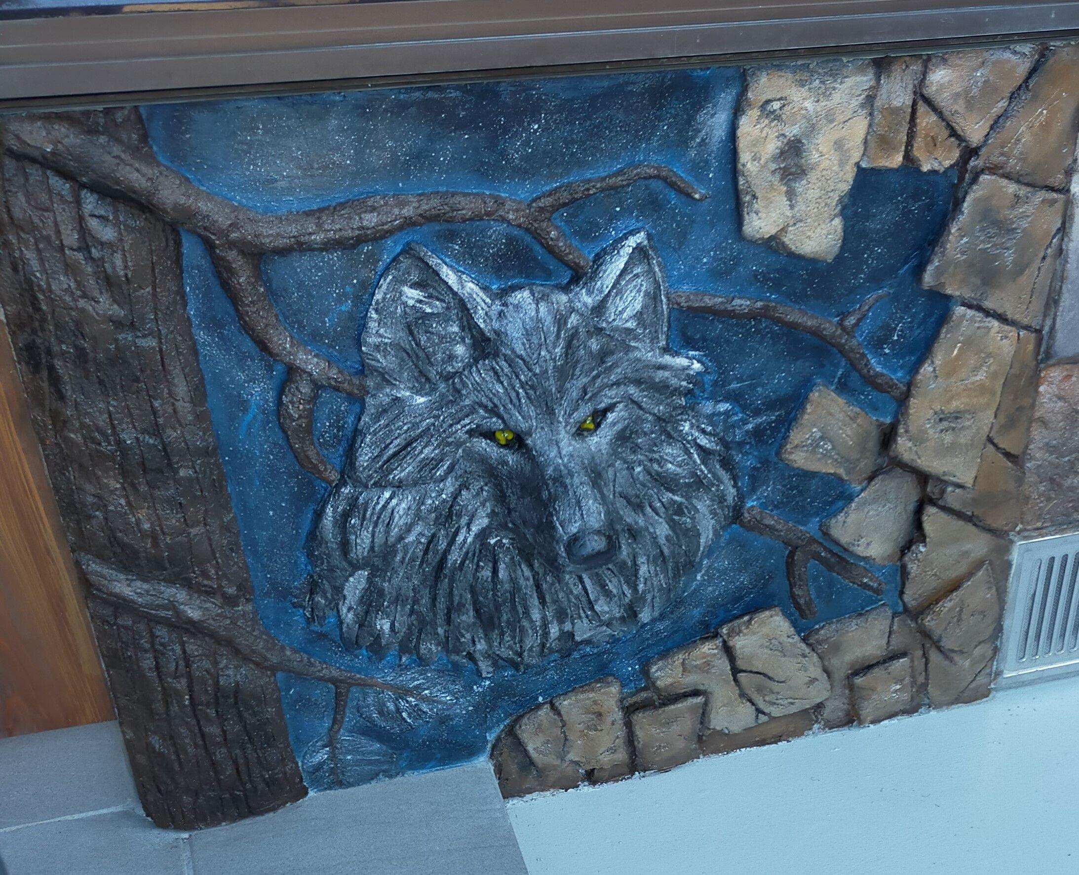 モルタル造形  狼